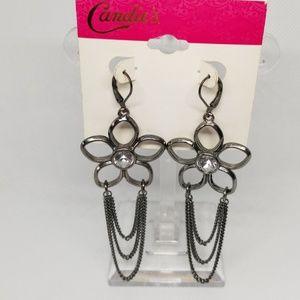 Flower earrings silzer earrings NWT